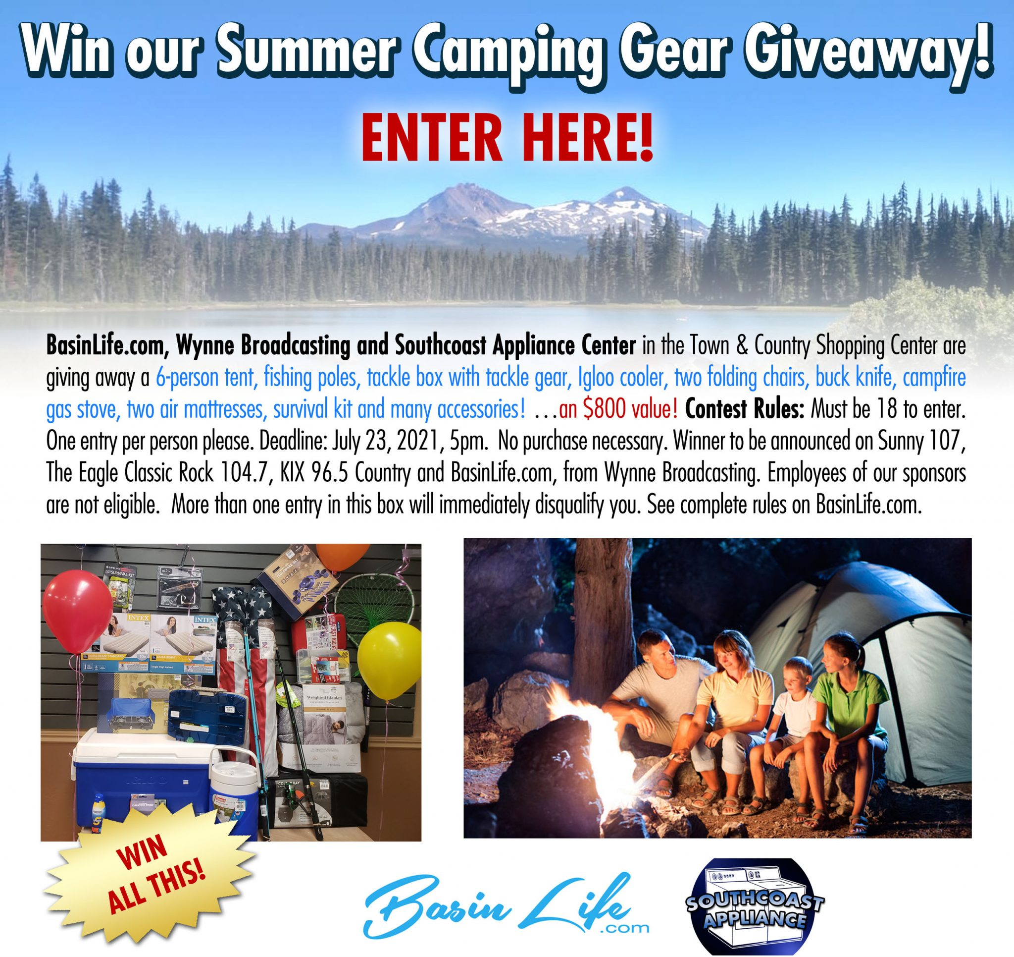 Enter to win our Summer Camping Gear Giveaway from ...
